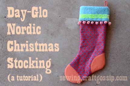 Tutorial: Day-Glo Nordic Christmas Stocking #FabulouslyFestive