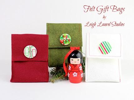 Tutorial: Reusable felt gift sack