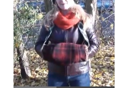 Tutorial: Make a hand muff or handwarmer from an old coat