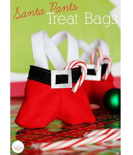 Free Pattern Santa Pants Treat Bags Sewing