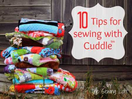 Heather's tips for sewing with Cuddle fabric