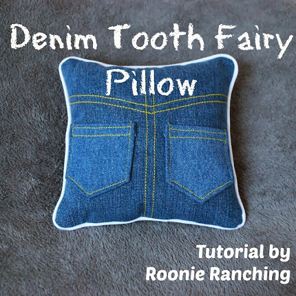 Tutorial Jeans Tooth Fairy Pillow Sewing
