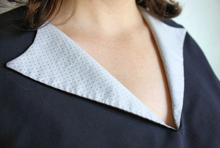 Tutorial: Make a contrast collar for a Simple Blouse