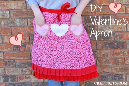 Tutorial: Valentine's apron with heart shaped pockets