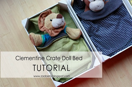 Tutorial: Make a doll bed from a clementine crate