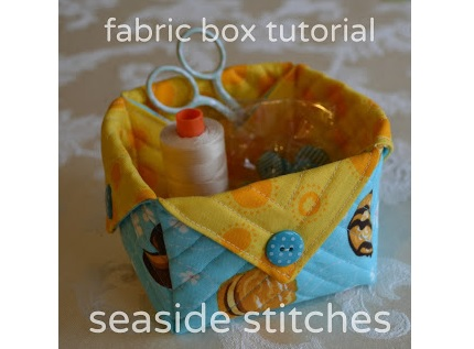 Tutorial: Quilted fabric box