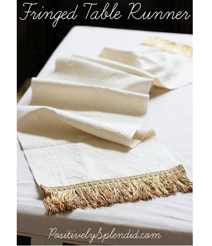 Tutorial: Easy Fringed Table Runner