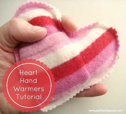 Tutorial: Heart shaped hand warmers