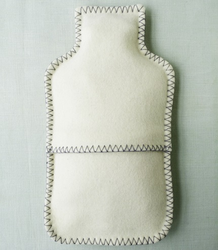 Tutorial: Felt hot water bottle cover – Sewing