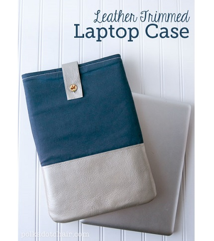 Tutorial: Leather laptop sleeve