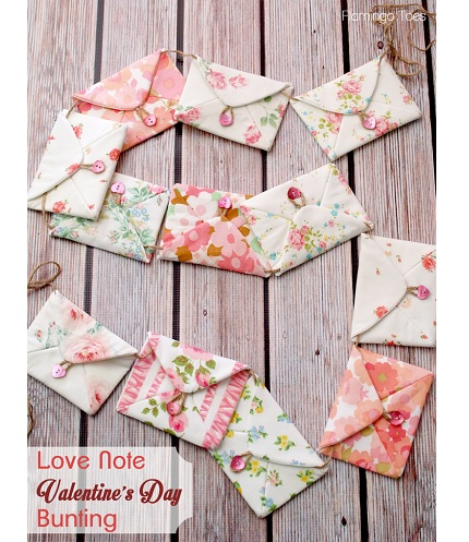 Tutorial: Love Note Valentine Bunting