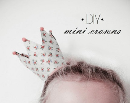 Tutorial: Fabric mini crown that stores flat