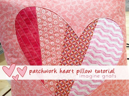 Tutorial Patchwork Reverse Applique Heart Pillow Sewing