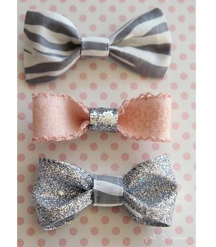 Tutorial: Pretty little bow hair clips