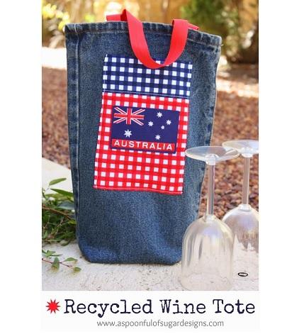 Tutorial: Recycled denim wine tote