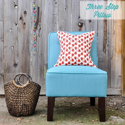 Tutorial Three Step Removable Pillow Cover Sewing