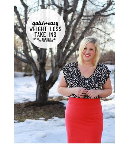 Tutorial: Quick clothing fixes for weight loss transition