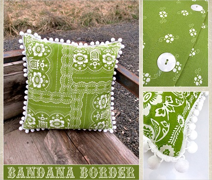 Tutorial: Pieced border print throw pillow