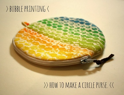 Tutorial Circle Zippered Coin Purse Sewing
