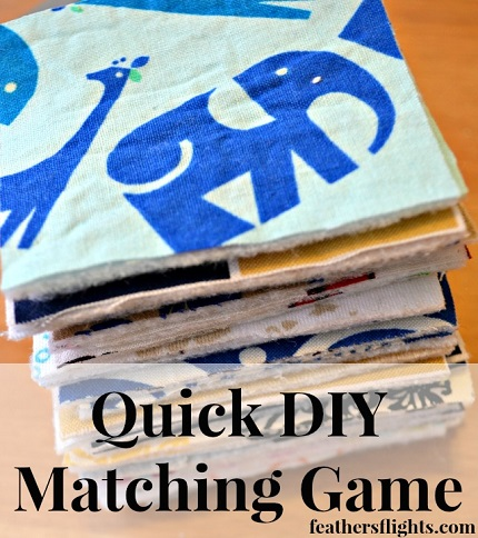 Tutorial: Child's matching game from fabric scraps