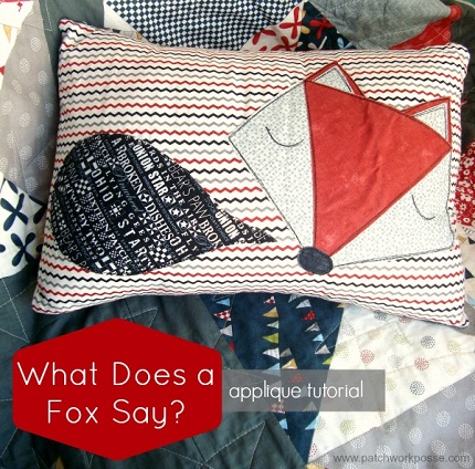 Free template: What Does a Fox Say? applique