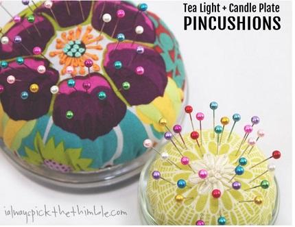 Tutorial: Tea light base pincushions