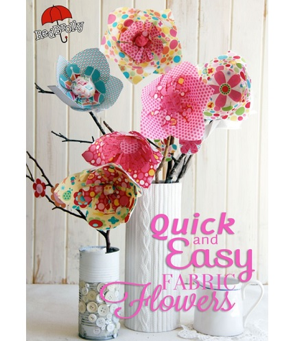 Free pattern: No-sew fabric flowers