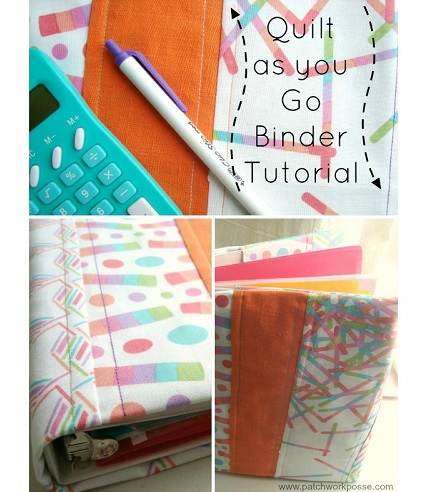 Tutorial: Scrappy 3-ring binder cover