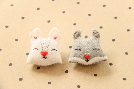 Free pattern: Felt squirrel brooch