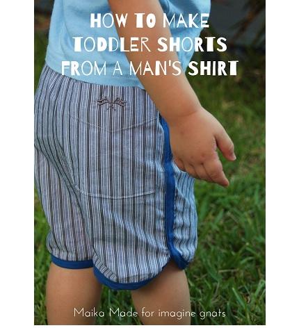 Tutorial: Make toddler shorts from a man's button up shirt