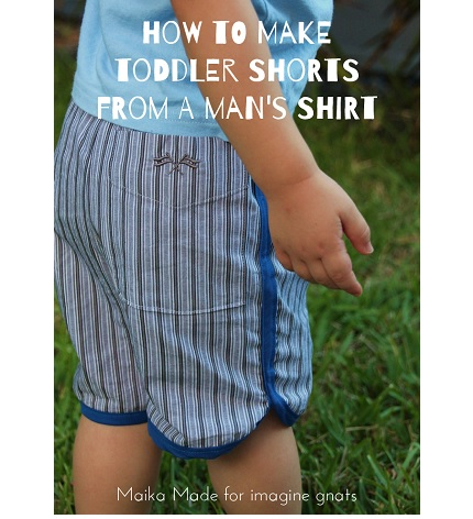 Tutorial: Make toddler shorts from a man's button up shirt