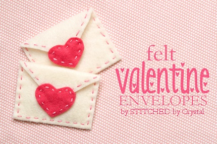 Tutorial: Hand stitched felt Valentine envelopes