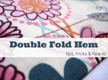 Tutorial: Double fold hem