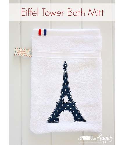 Tutorial: Eiffel Tower bath mitt