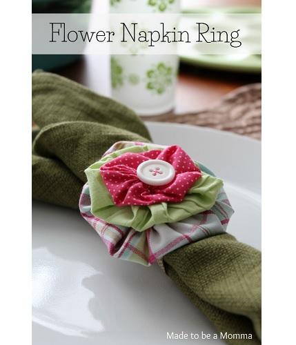 Tutorial: Fabric flower napkin rings