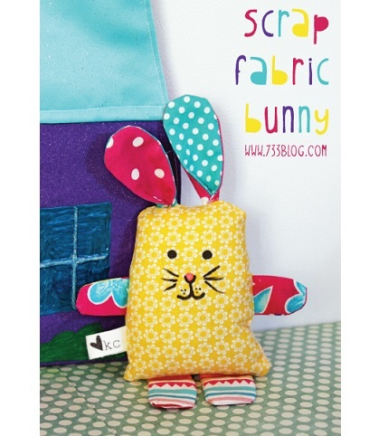 Free pattern: Scrap fabric bunny softie