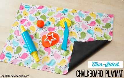 Tutorial: Two-Sided Chalkboard Playmat