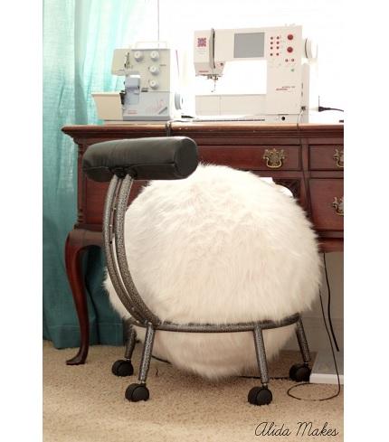 Tutorial Faux Fur Ball Chair Cover Sewing