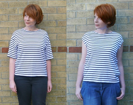 Tutorial: Tank tee refashioned from an oversized tee