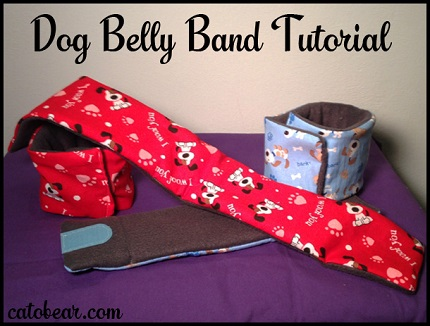 Tutorial: Dog belly band to prevent urine accidents