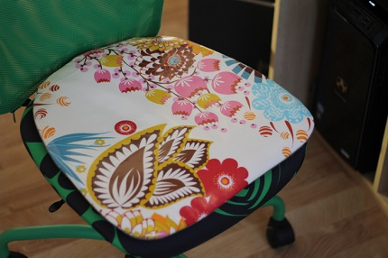 Tutorial: Office chair cushion with a removable cover – Sewing