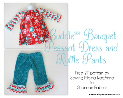 Free pattern: Toddler girl's peasant dress and ruffle pants
