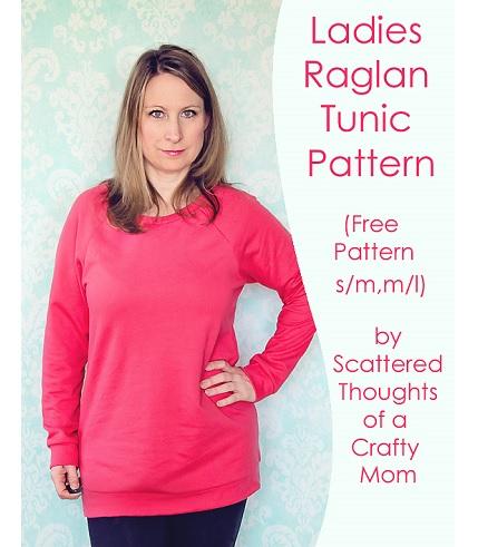 Free pattern: Ladies raglan tunic