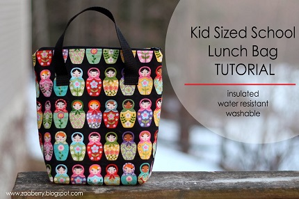 Tutorial: Kid Sized School Lunch Bag