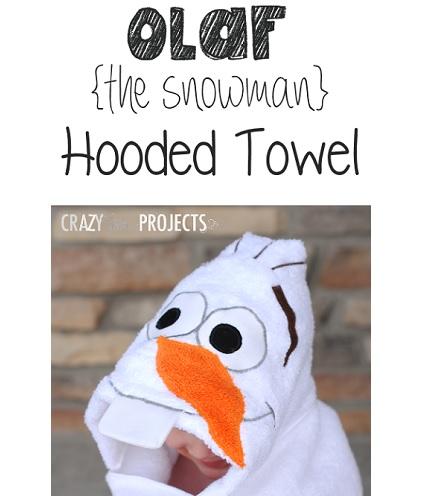 Tutorial: Snowman hooded towel
