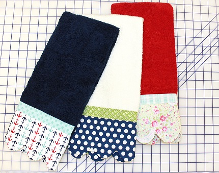 Tutorial Scallop Edge Hand Towels Sewing