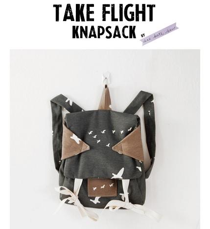 Free pattern: Take Flight Knapsack for kids