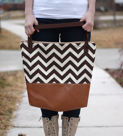 Tutorial: Leather bottom tote