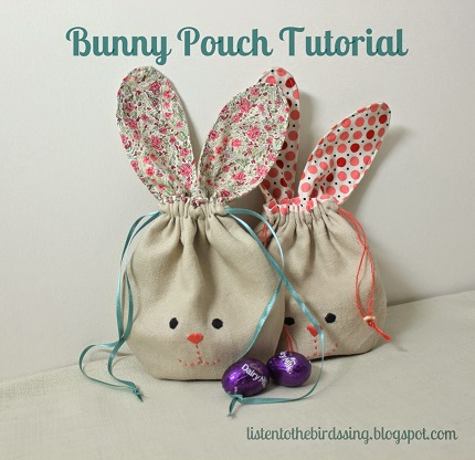Free pattern bunny ear drawstring pouch sewing free pattern bunny ear drawstring pouch negle Choice Image