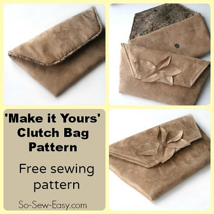 Free pattern: Make It Yours clutch bag